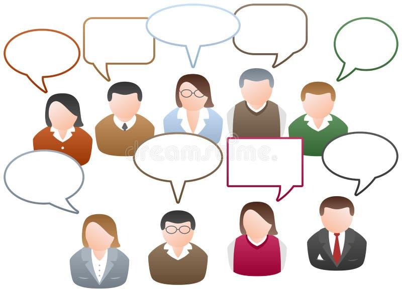 Vernetzungs-Kommunikation lizenzfreie abbildung