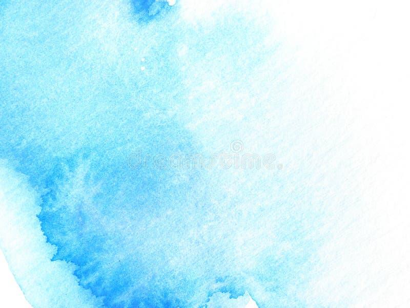 Vernice astratta blu di disegno della priorità bassa dell'acquerello immagini stock libere da diritti