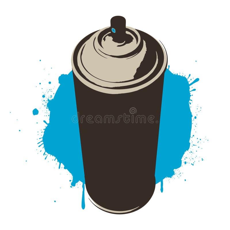 Vernice blu fotografie stock libere da diritti
