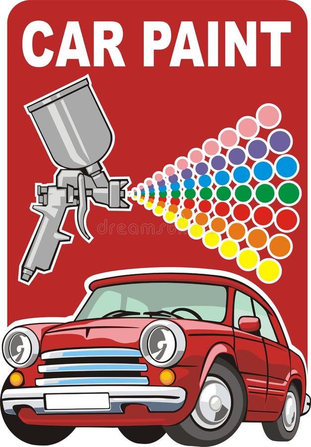Vernice dell'automobile illustrazione vettoriale