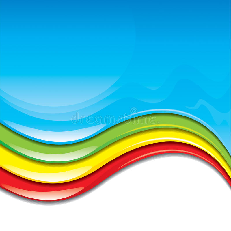 Vernice di colore illustrazione di stock