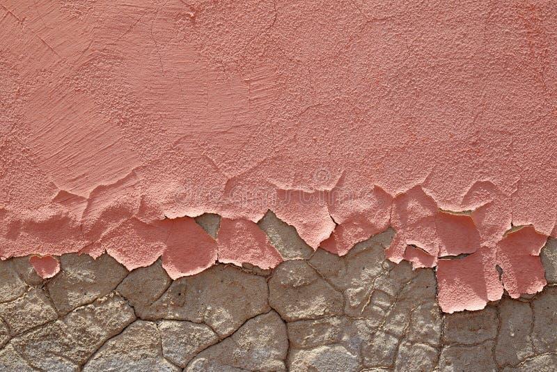 Vernice friabile di colore rosa della sbucciatura immagine stock