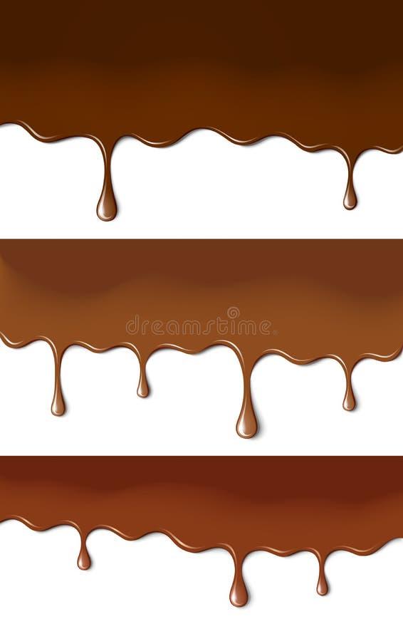 Vernici del cioccolato illustrazione di stock