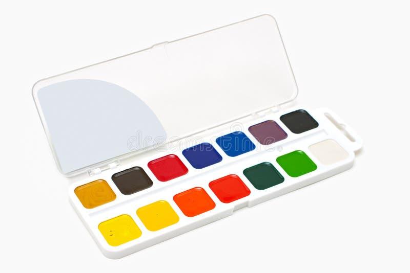 Vernici di colore di acqua fotografia stock