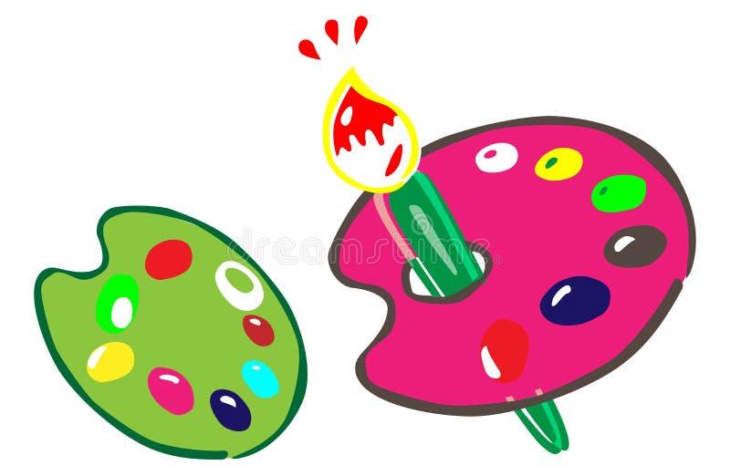 Vernici il pallet illustrazione vettoriale