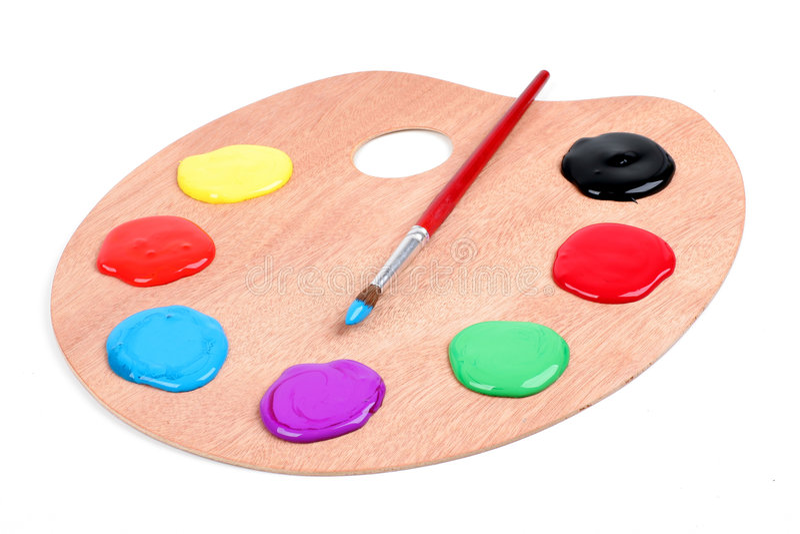 Vernici la gamma di colori immagini stock libere da diritti