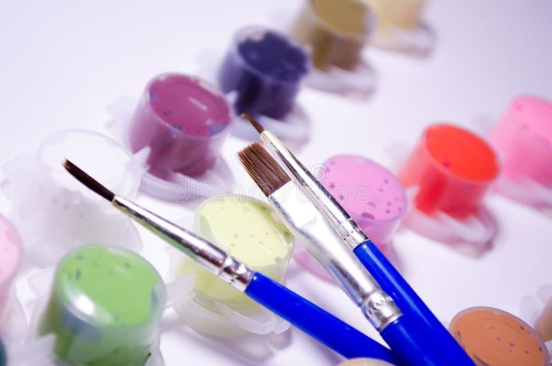 vernici spazzole Insieme di disegno Pitture e spazzole della metropolitana Composizione per gli artisti, per i siti circa i mater royalty illustrazione gratis