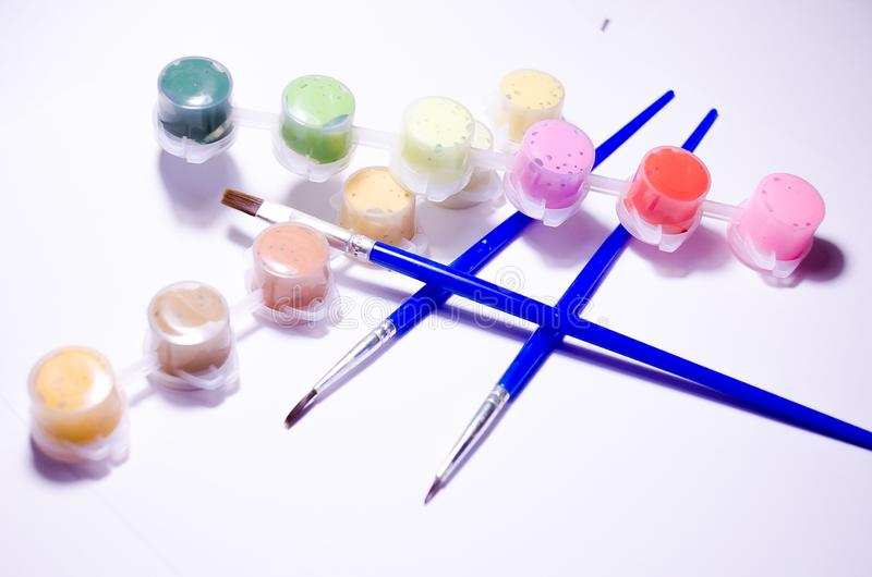 vernici spazzole Insieme di disegno Pitture e spazzole della metropolitana Composizione per gli artisti, per i siti circa i mater illustrazione vettoriale