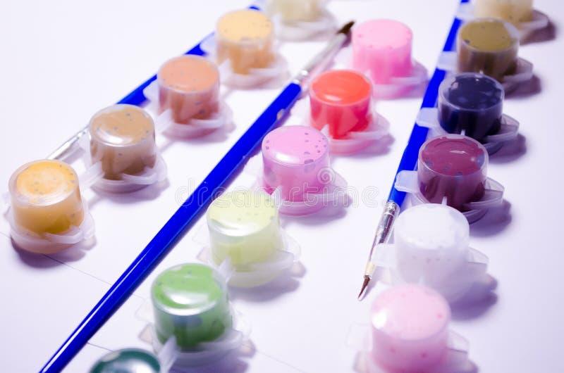 vernici spazzole Insieme di disegno Pitture e spazzole della metropolitana Composizione per gli artisti, per i siti circa i mater illustrazione di stock