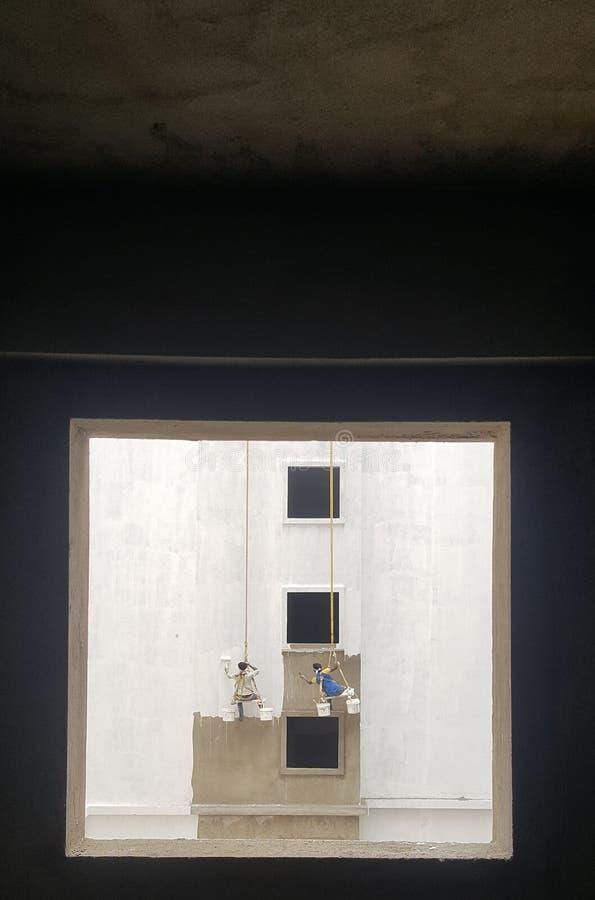 Verniciatura della parete fotografie stock libere da diritti