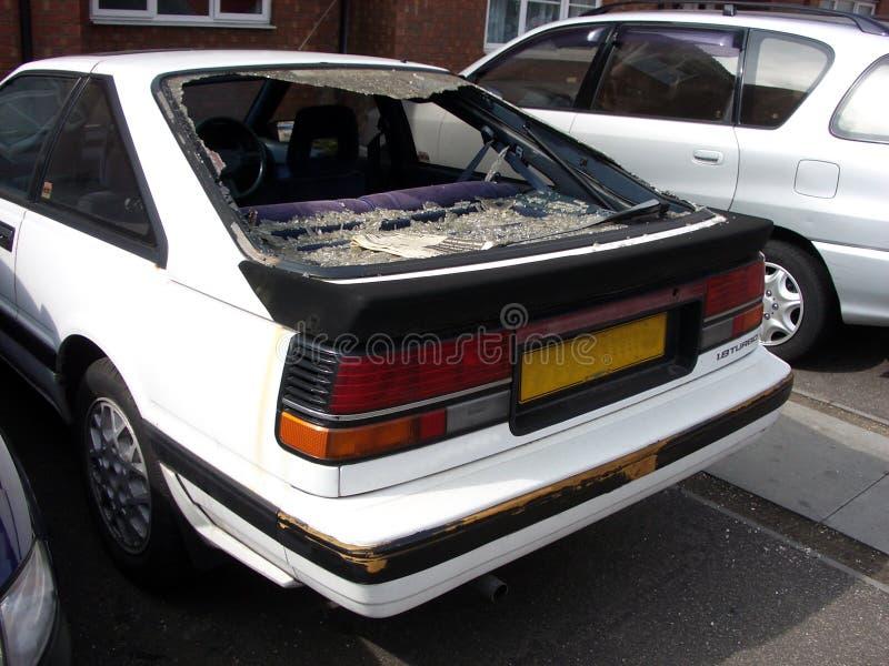 Vernielde Auto. Stock Foto's