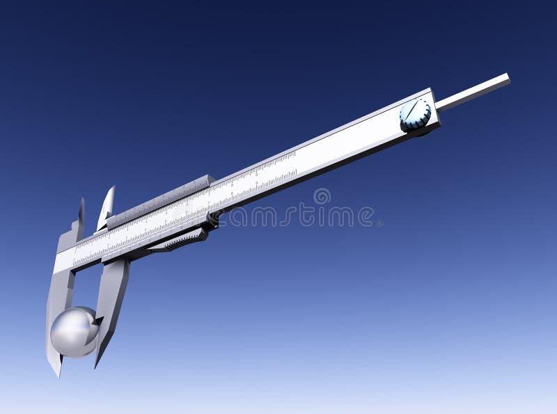 Vernier caliper vector illustration