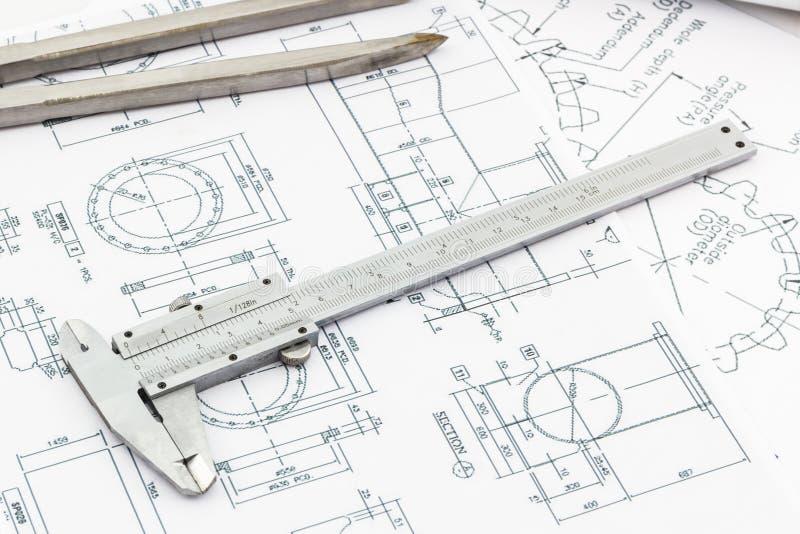 Vernier scale on blueprint background stock photo image of download vernier scale on blueprint background stock photo image of hammer document malvernweather Choice Image