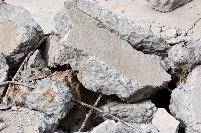 Vernietigd beton stock afbeeldingen