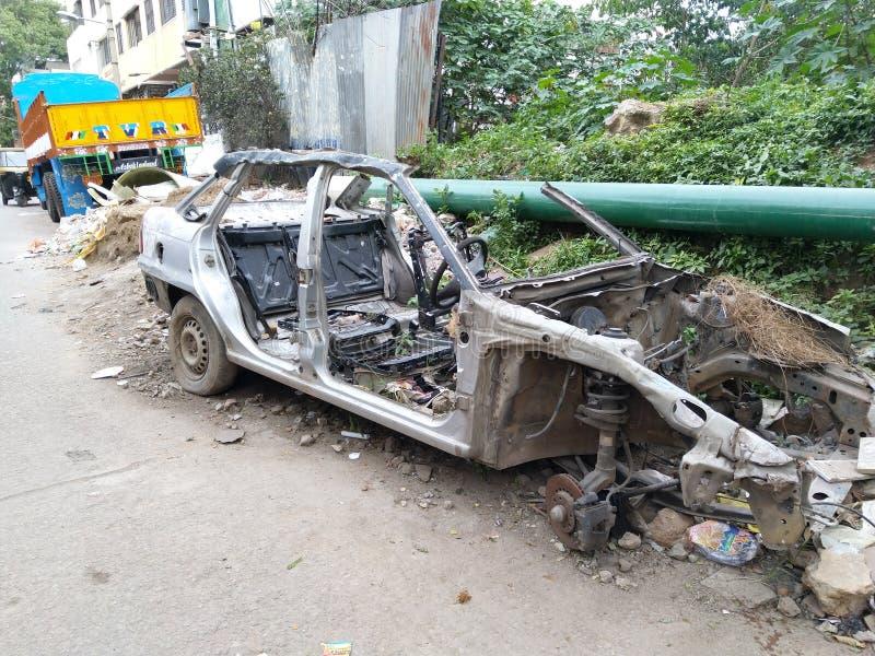 Vernietigde Auto stock afbeeldingen