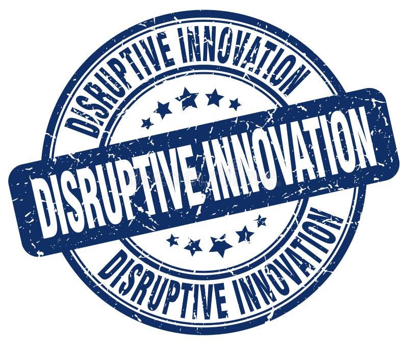 Vernietigende innovatie blauwe zegel vector illustratie