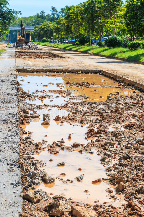 Vernietigende weg stock foto