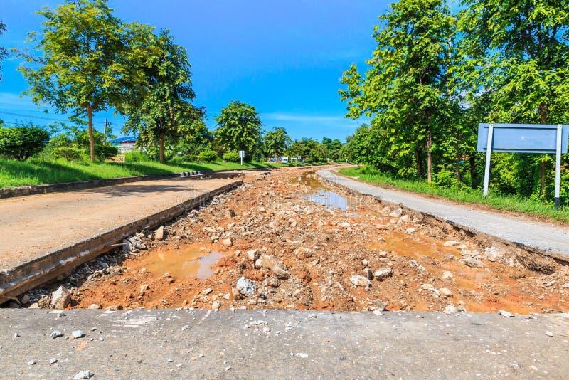 Vernietigende weg stock afbeelding