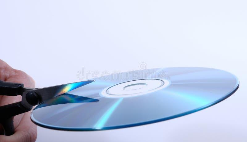 Vernietiging van de gegevens over CD stock foto