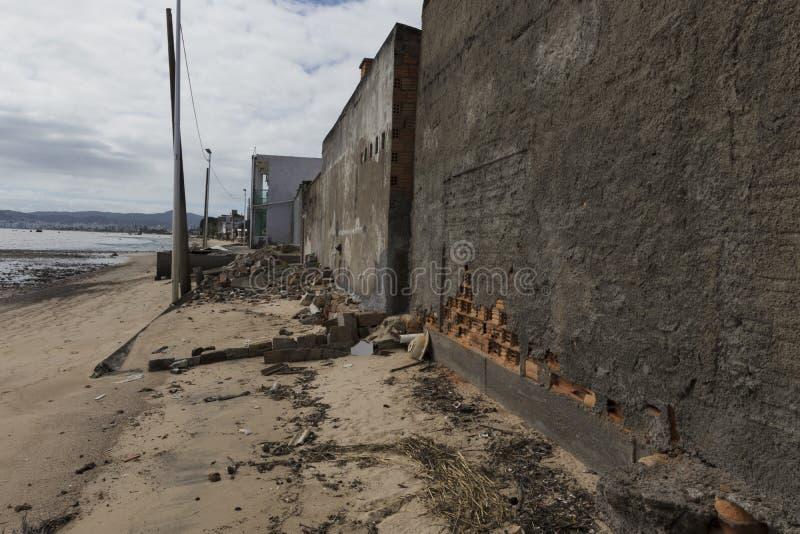 Vernietiging van huizen stock fotografie