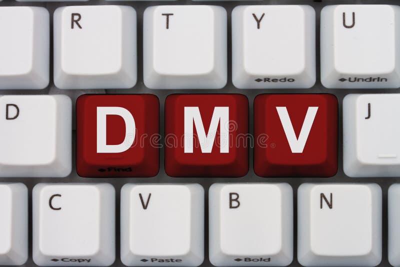 Vernieuw online uw vergunning bij DMV stock afbeelding