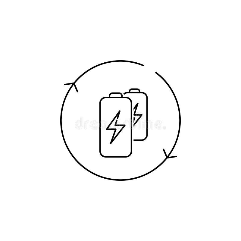 vernieuwbaar Batterijpictogram stock illustratie