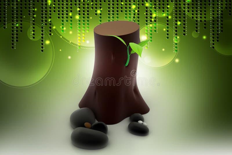 Vernieuwbaar middel van energieconcept stock illustratie