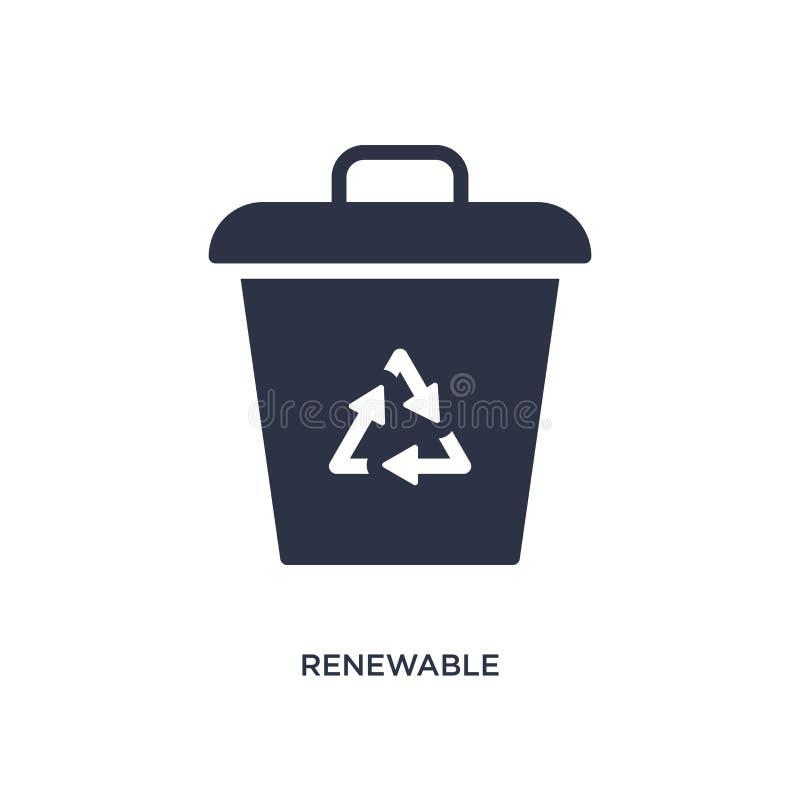 vernieuwbaar pictogram op witte achtergrond Eenvoudige elementenillustratie van ecologieconcept royalty-vrije illustratie