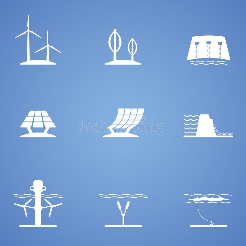 Vernieuwbaar pictogramdeel stock illustratie