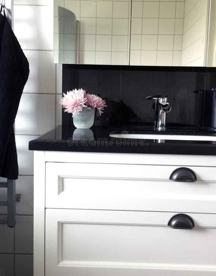 Vernieuwd batchroom in een elegante stijl stock foto's