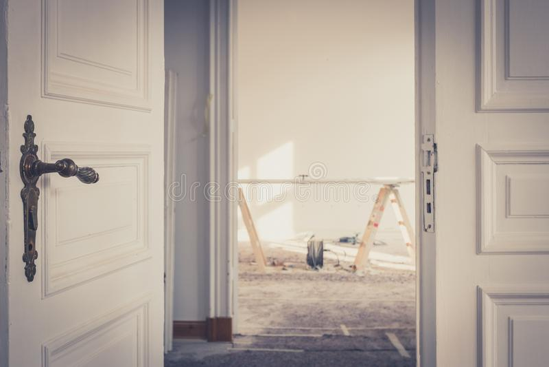 Vernieuwing/restauratie - het huisverbetering, stock fotografie