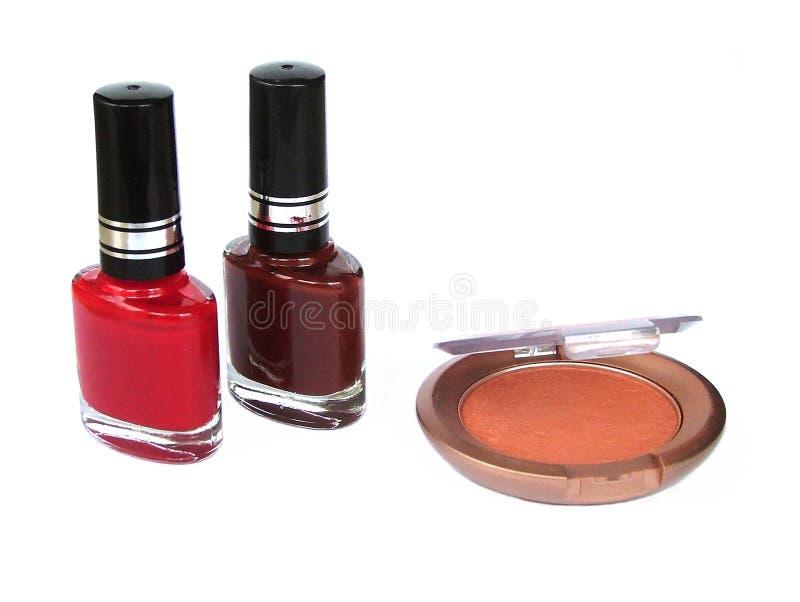 Vernis à ongles d'ombre d'oeil photographie stock libre de droits