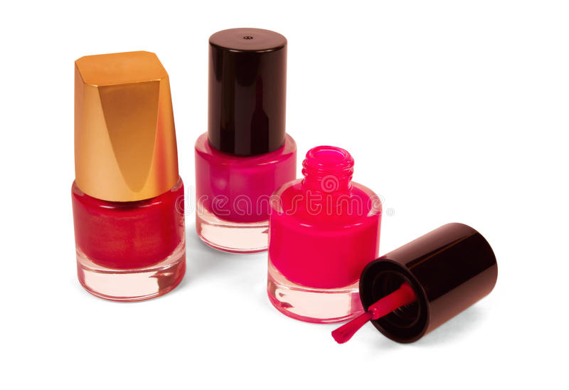 Vernis à ongles rouge photo stock