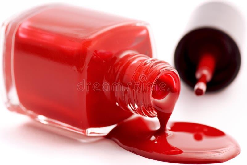 Vernis à ongles rouge photo libre de droits