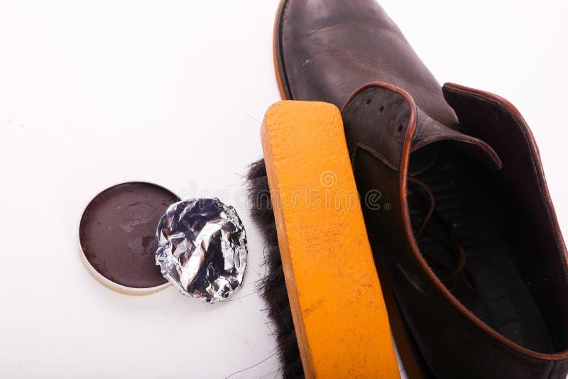 Vernis de chaussures photographie stock