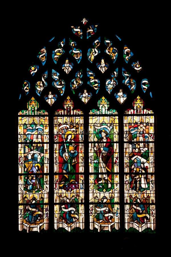 Vernon cathedral window stock photo