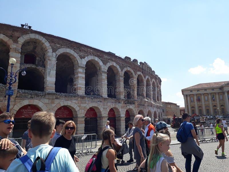Verona amfiteater royaltyfria bilder