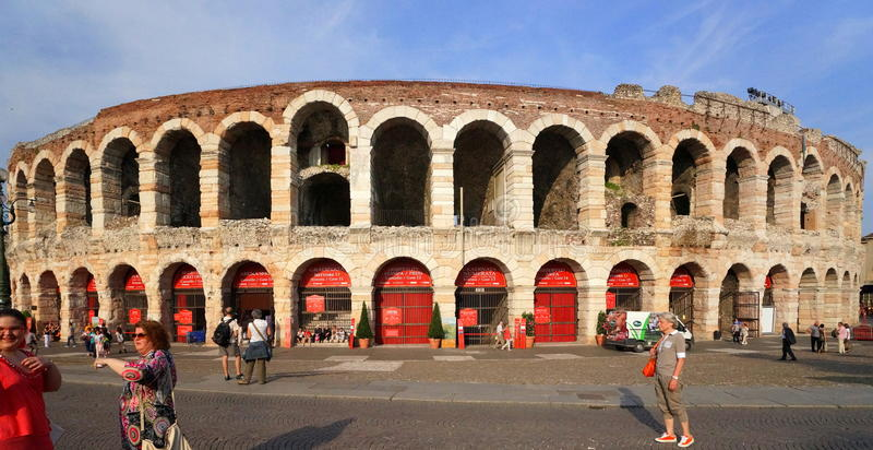 Verona Arena royaltyfri foto