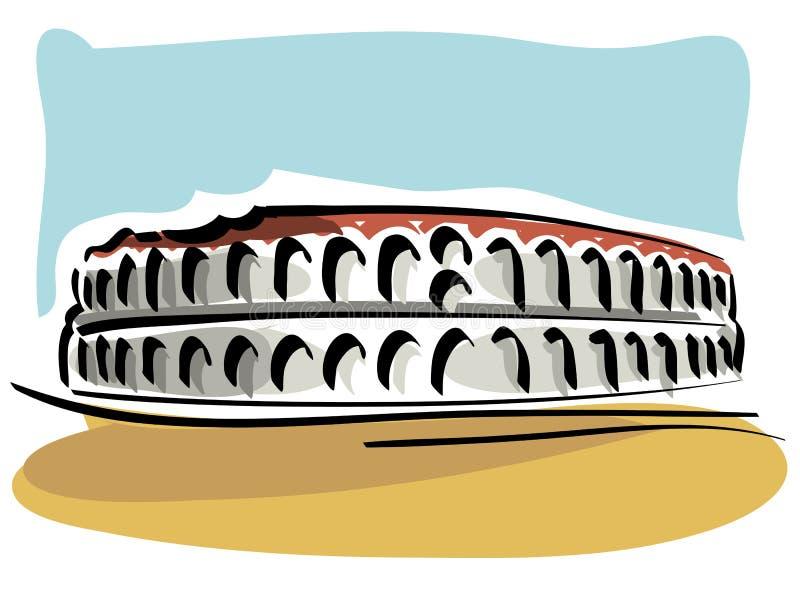Verona Arena illustrazione vettoriale. Illustrazione di ...