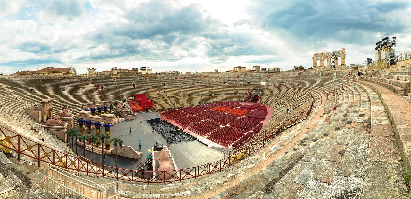Verona arena obraz royalty free