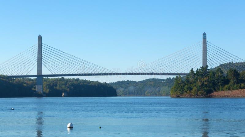 Verona Bridge in Maine fotografie stock libere da diritti
