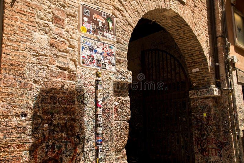Verona a casa de Juliet fotos de stock