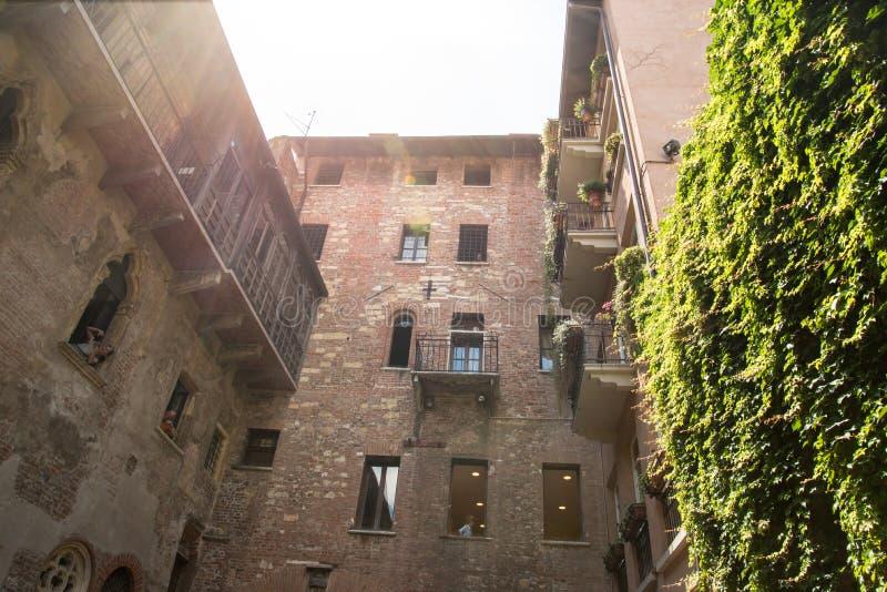 Verona a casa de Juliet imagem de stock
