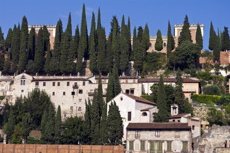Verona Castel San Pietro immagini stock