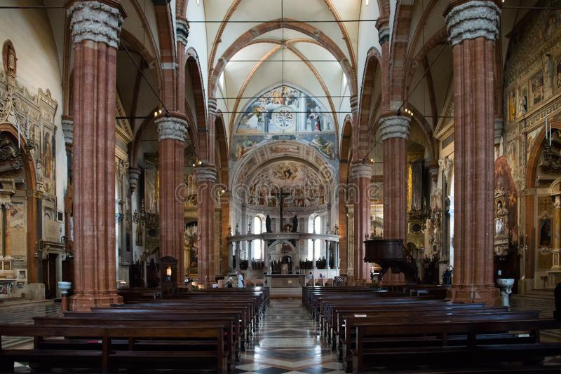 Verona Cathedral the interior royalty free stock photography