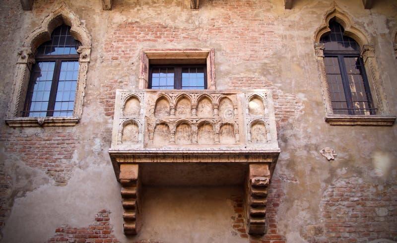 Verona charmör och Juliet Balcony arkivfoton
