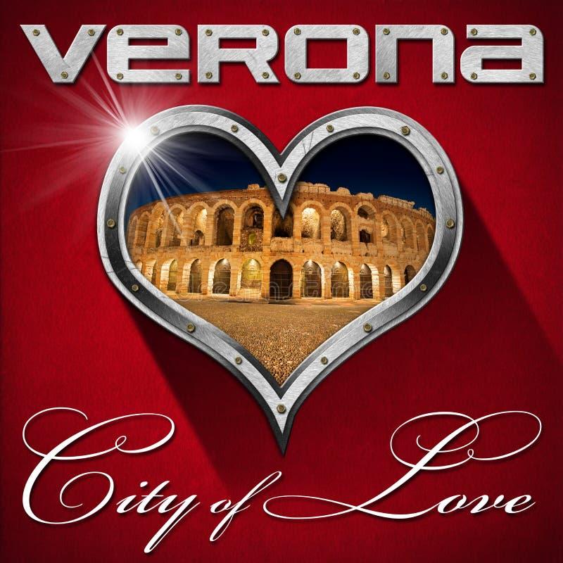 Verona - cidade do amor ilustração royalty free
