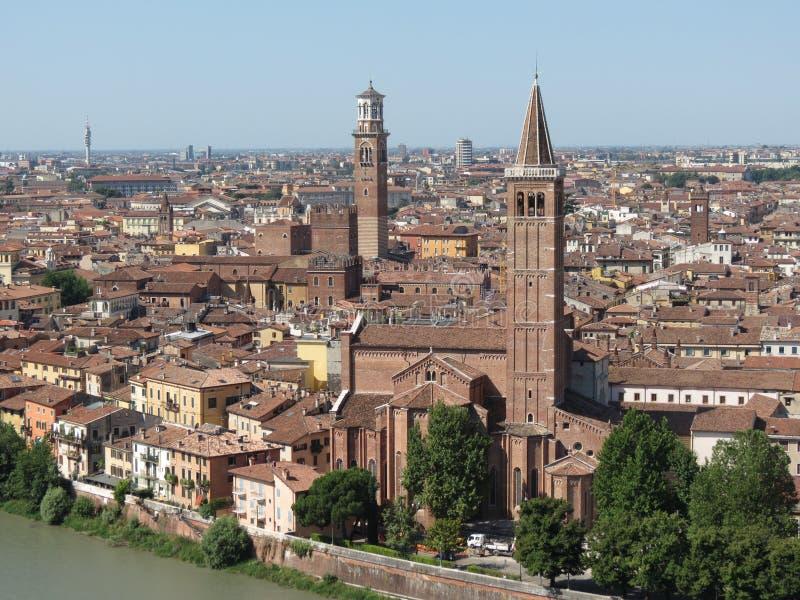 Verona city centre and river
