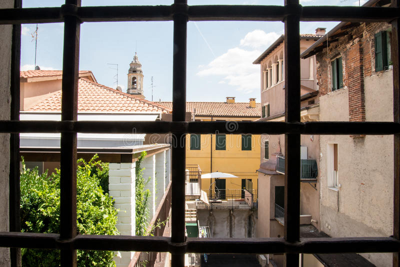 Verona. The city of love in Italy. Famous because of the drama & x22;Romeo and Juliet& x22; of William Shakespeare. Except the house of Juliet - la casa di royalty free stock photo