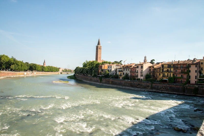 Verona. The city of love in Italy. Famous because of the drama & x22;Romeo and Juliet& x22; of William Shakespeare. Except the house of Juliet - la casa di stock images